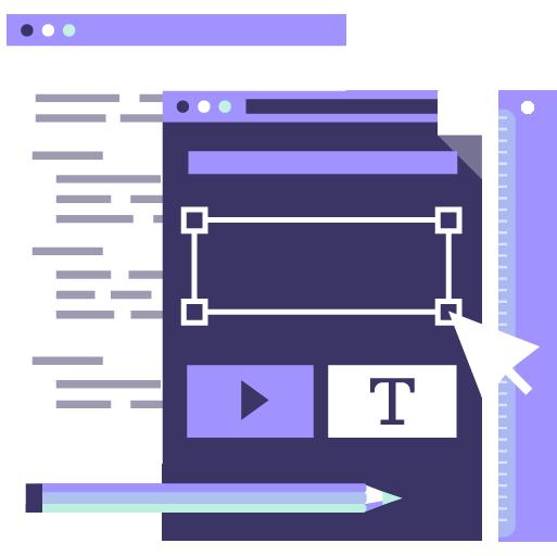 icono de servicio de diseño y desarrollo web