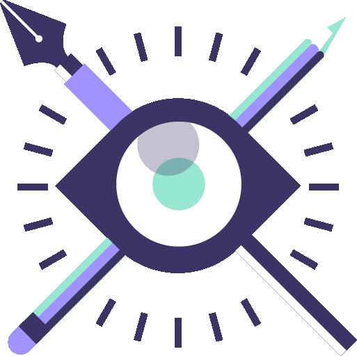 icono de servicio de diseño de logo y marca