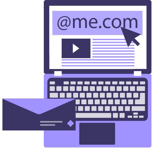 icono de servicio de correo electrónico y dominio personalizados